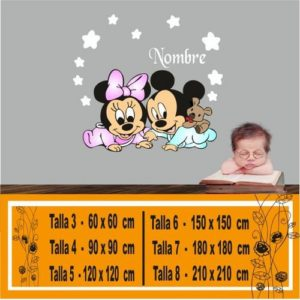 vinilo a color disney bebe 1074