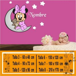 vinilo a color Minnie bebe 1077
