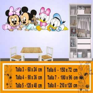 vinilos decorativos disney Mickey Minnie Donald Daysi 1212